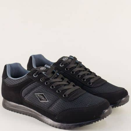 Мъжки маратонки на равно ходило в черен цвят n513ch