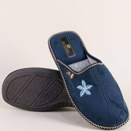 Дамски домашни чехли в тъмно син цвят- Spesita neviats