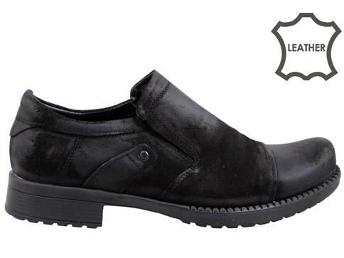 Качествени мъжки обувки с комфортно грайферно ходило в черен цвят m202vch