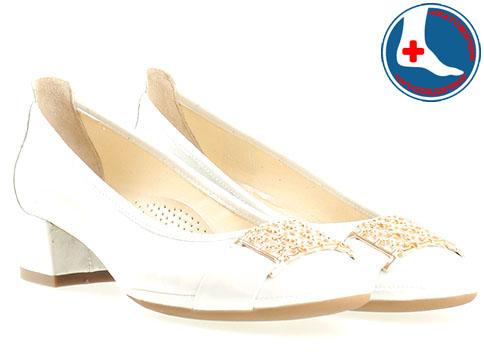 Анатомични дамски обувки от Naturelle, изпълнени от 100% естествена кожа в бял цвят z695705b