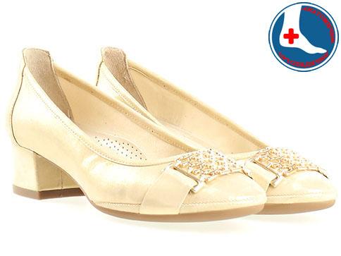 Анатомични дамски обувки от Naturelle, изпълнени от 100% естествена кожа в бежов цвят z695705bj