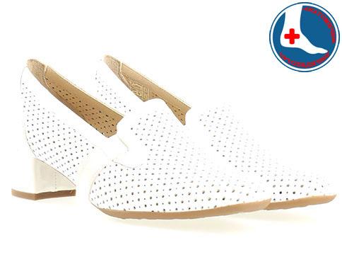 Бели дамски обувки Naturelle от естествена кожа с перфорация z7082b