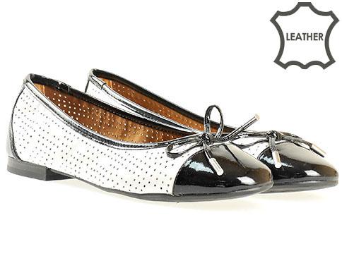 Дамски обувки Caprice, тип балеринки от  висококачествена естествена и еко кожа 922105bch