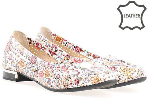 Меки и удобни дамски обувки на дупки с комфортно ходило, изработени от естествена кожа в свежа цветова гама 564lps