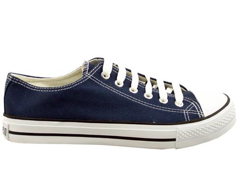 Мъжки спортни обувки, тип гуменки с връзки в черен цвят 7776-45s