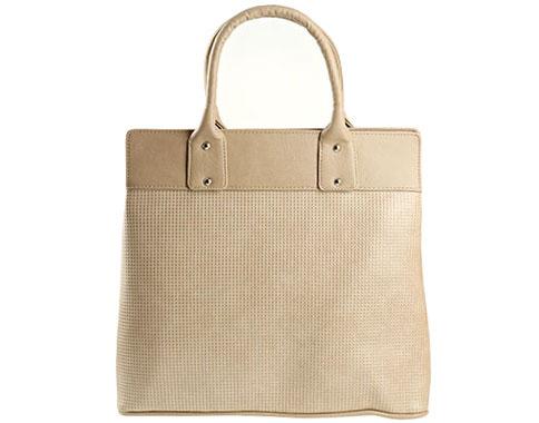 Стилна твърда дамска чанта, произведена в България от светло бежова кожа  s1122tbj