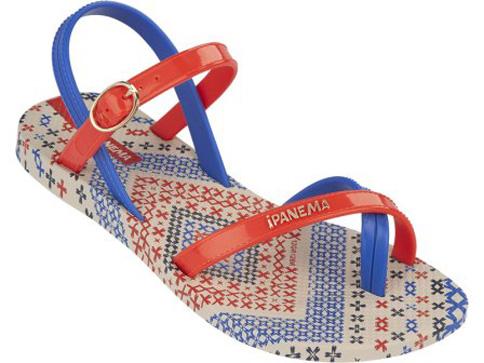 Страхотни и модерни бразилски детски сандали Ipanema за момичета в синьо-червена цветова гама 8083922329