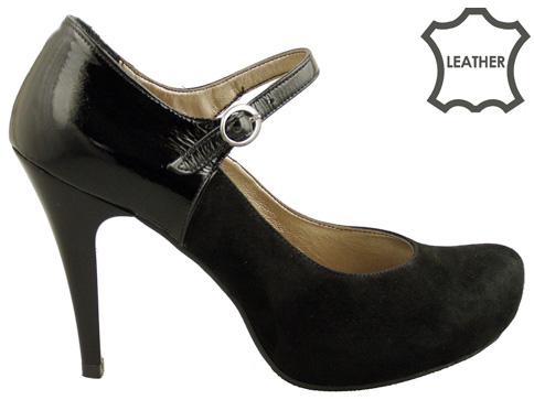 Стилни дамски обувки на висок ток с каишка около глезена 418vch