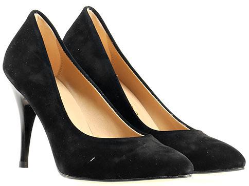 Елегантни дамски обувки на висок ток в черен цвят m1500vch