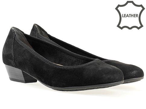 Ортопедични дамски обувки Jana, изработен от висококачествен естествен велур 822202vch