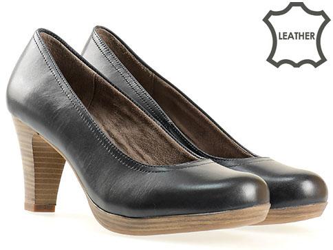 Немски обувки на ток естествена кожа Tamaris  с Antishokk система 122410s