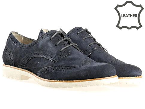 Комфортни обувки на немската фирма Tamaris, стилен модел изработен от естествен велур 123200vs