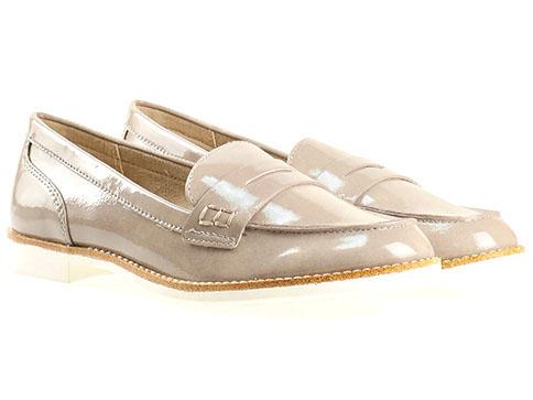 Комфортни дамски обувки Tamaris, дизайнерски модел изработени от висококачествен еко лак в кафяв цвят 124205lk