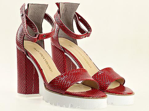 Червени  елегантни  сандали  1430zchv