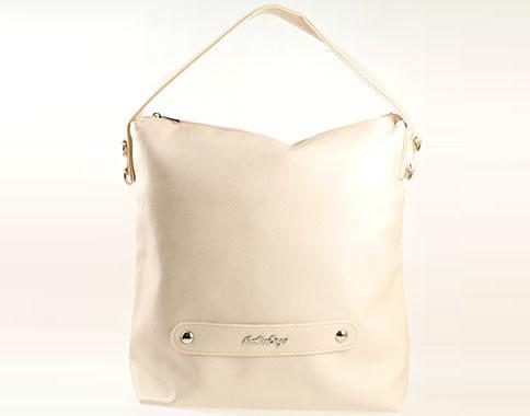 Актуален модел практична всекидневна дамска чанта, тип торба в бежов цвят  s1070bj