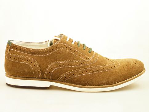 Стилни мъжки велурени обувки S.Oliver, с модерна швейцарска перфорация 513201vk