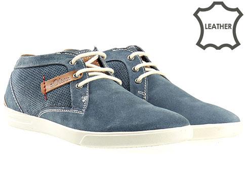 Стилни мъжки обувки от естествен велур с връзки, произведени от S.Oliver - Германия 515206vs