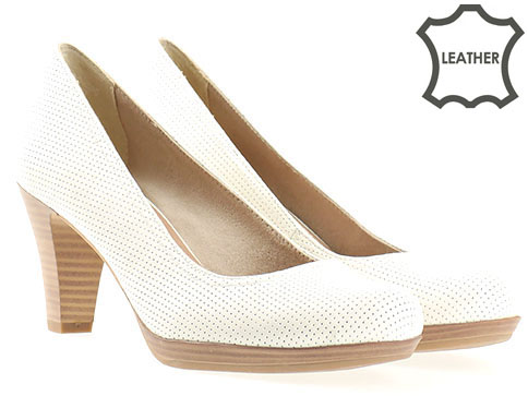 Немски обувки на ток естествена кожа Tamaris  с Antishokk система 122410b