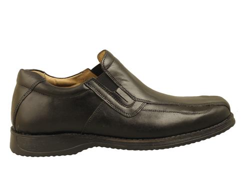 Комфортни мъжки обувки с грайферно ходило в черен цвят, произведени от доказан български производител 2080ch