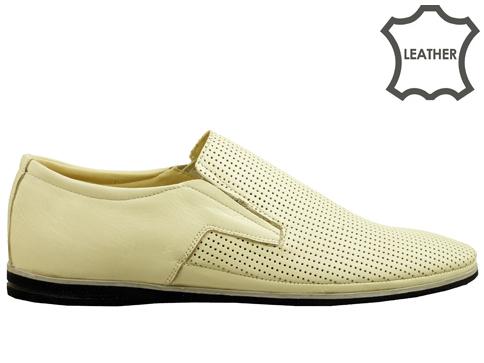Мъжки обувки, тип мокасини с пластично и комфортно ходило, изработени от естествена кожа m026bj