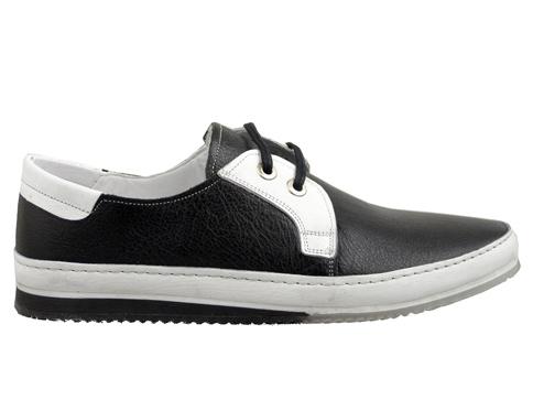 Комфортни мъжки обувки  с връзки, произведени от 100% естествена кожа  1512ch