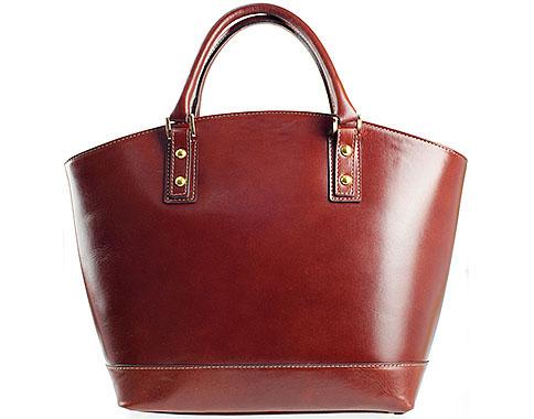 Елагантна дамска чанта с изчистен дизайн, изработена от червена висококачествена естествена кожа a82chv