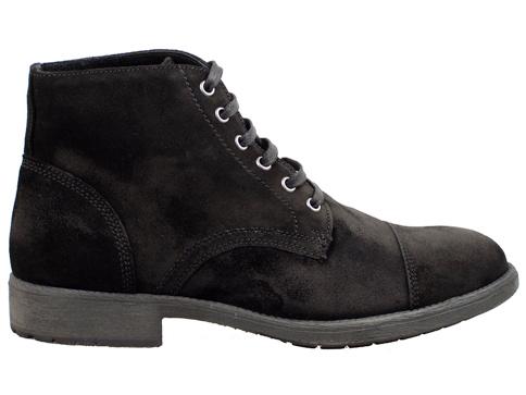 Мъжки боти със стилен италиански дизайн, произведени от черен естествен велур 8701vch