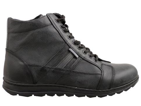 Мъжки спортни боти с връзки в черен цвят 0101385ch