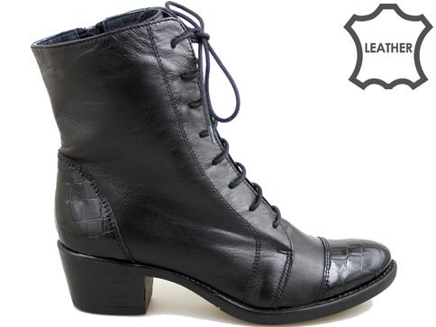 Модерни ежедневни дамски боти в черен цвят  1573kch