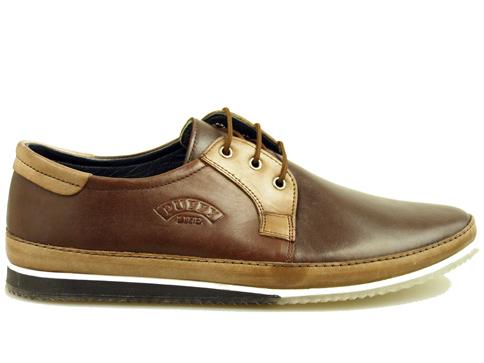 Тъмно кафяви мъжки обувки с комфортно и пластично каучуково ходило m720k