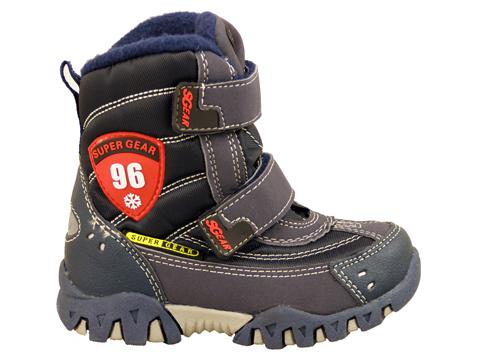 Детски апрески с комфортно грайферно ходило в тъмно син цвят 7038-30s