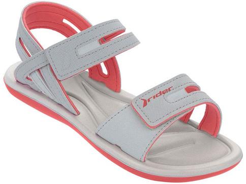 Страхотни и удобни бразилски сандали Rider с две лепенки в сиво 8117222496