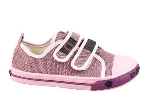 Детски спортни обувки от текстил с две лепенки в лилав цвят 17883l