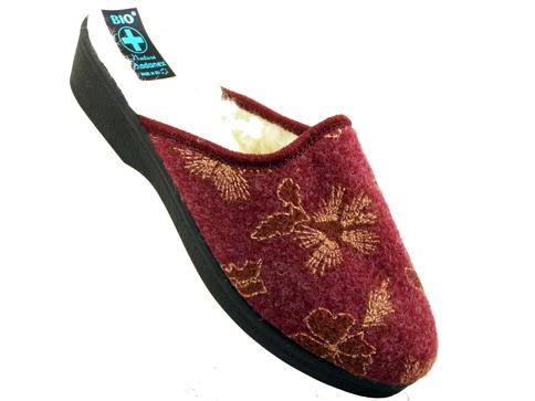 Дамски домашни чехли с Bio анатомични ходила в цвят бордо на полска фирма  18349bd