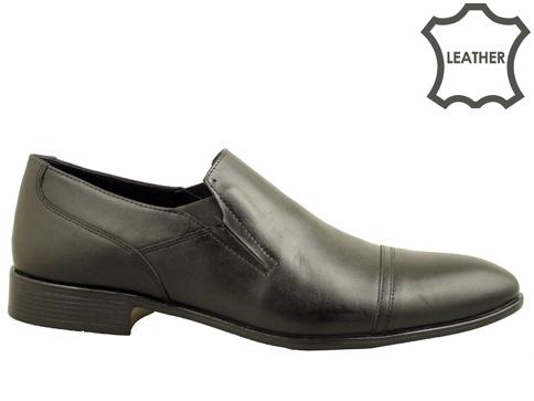 Официални мъжки обувки с интересни декоративни шевове, изработени от естествена кожа 6011ch