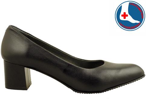 Анатомични дамски обувки на среден ток с изчистена визия z9618803ch
