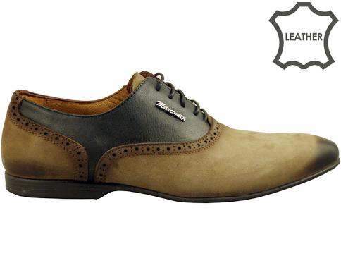 Луксозни мъжки обувки със стилна визия и моден дизайн, изработени в бежово-кафява цветова гама 422451nbj