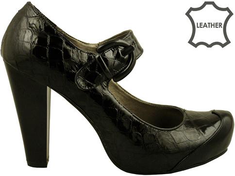 Удобни елегантни обувки със скрита платформа от естествена кожа m74klch