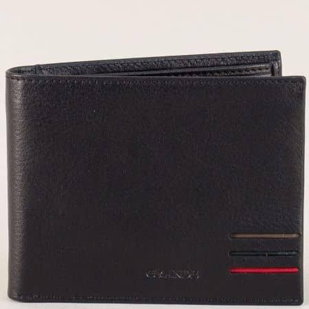 Мъжки портфейл от естествена кожа в черен цвят p1718ch