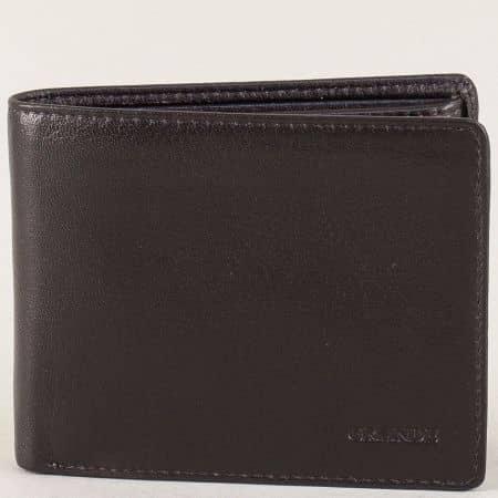 Мъжки портфейл в тъмно кафяво с две прегради p504k