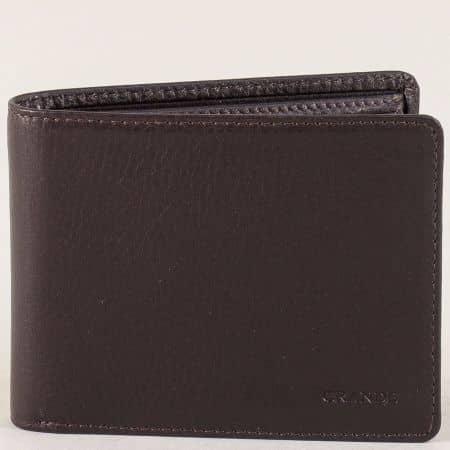 Мъжки портфейл от кафява естествена кожа p508k