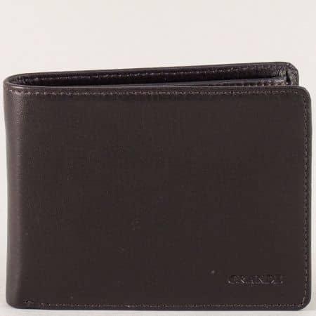Мъжки портфейл в кафяво от естествена кожа p513k