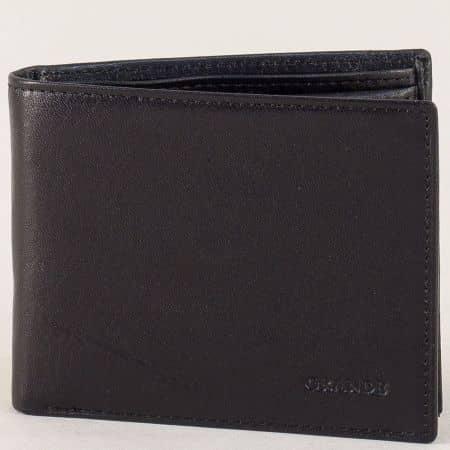Мъжки портфейл от черна естествена кожа p534ch
