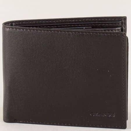 Тъмно кафяв мъжки портфейл с две прегради p534k