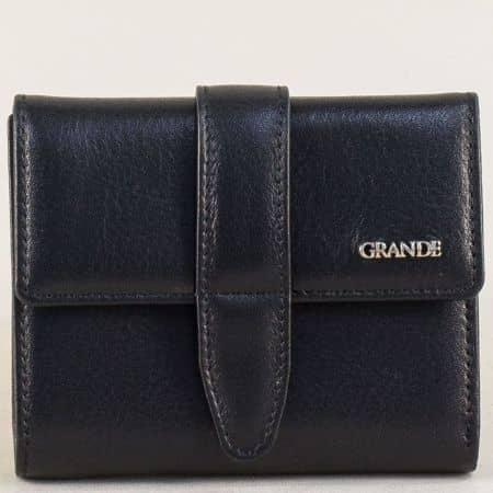 Дамски портфейл от естествена кожа в черен цвят p633ch