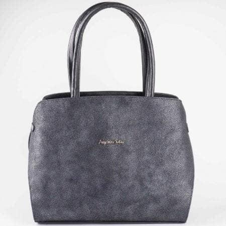 Дамска чанта на известен български производител в черен цвят s1157ch1