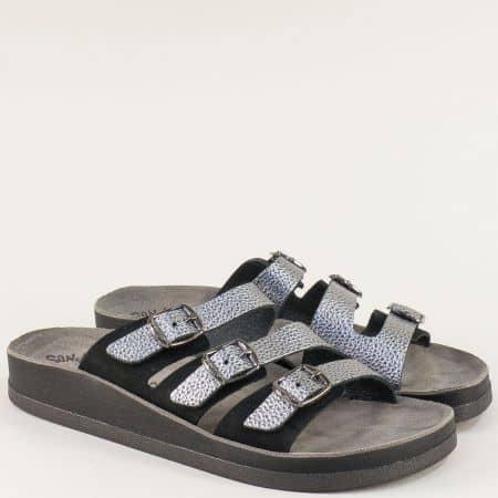 Гръцки дамски чехли от естествена кожа на анатомично ходило s3008ch