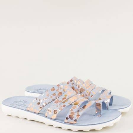 Анатомични дамски чехли с Flex Sole Technology от естествена кожа s400s
