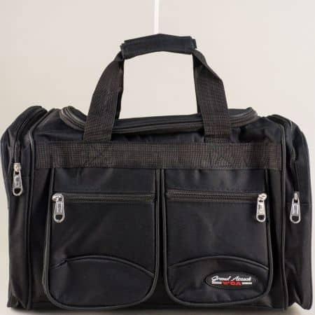 Спортен сак в черен цвят- GRAND ATTACK sak21.9