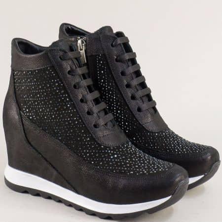 Спортни зимни дамски обувки на платформа от естествена кожа sf50sch1
